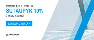 2018 11 07 Autodesk akcija -10 proc nuolaida 3 metu prenumeratoms LT 300x130